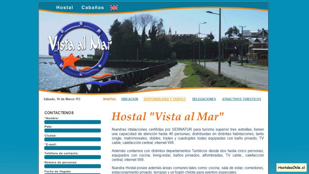 Hostales y Residenciales Chile - 'Hostal Vista al Mar, Ancud, Chiloe