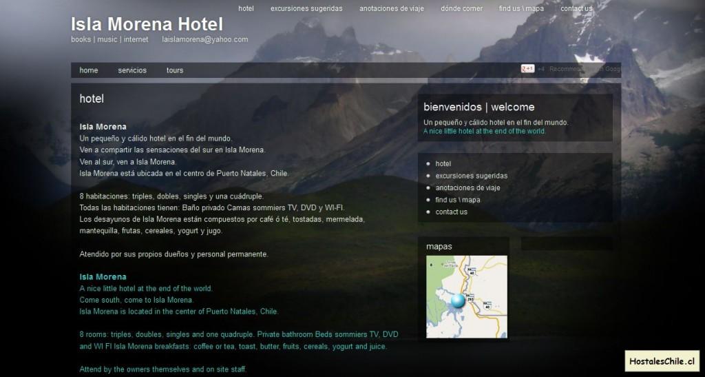 Hostales y Residenciales Chile - 'Hotel Isla Morena - Puerto Natales' - islamorenahotel_com