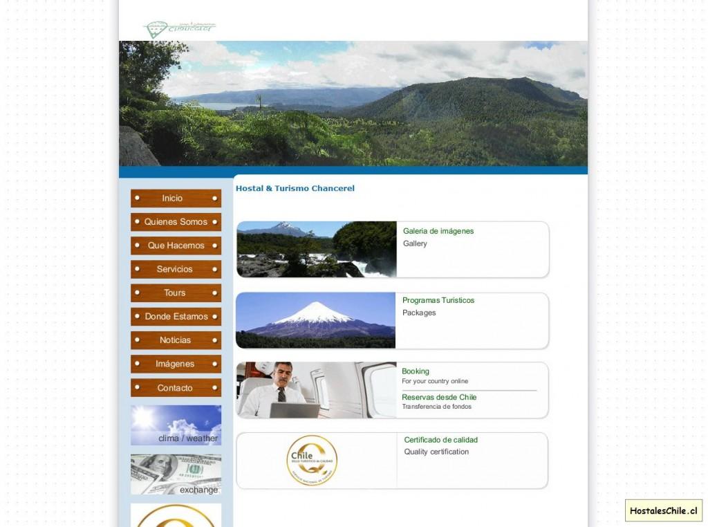Hostales y Residenciales Chile - 'Turismo Chanceler - Puerto Varas' - www_turismochancerel_com_inicio_htm