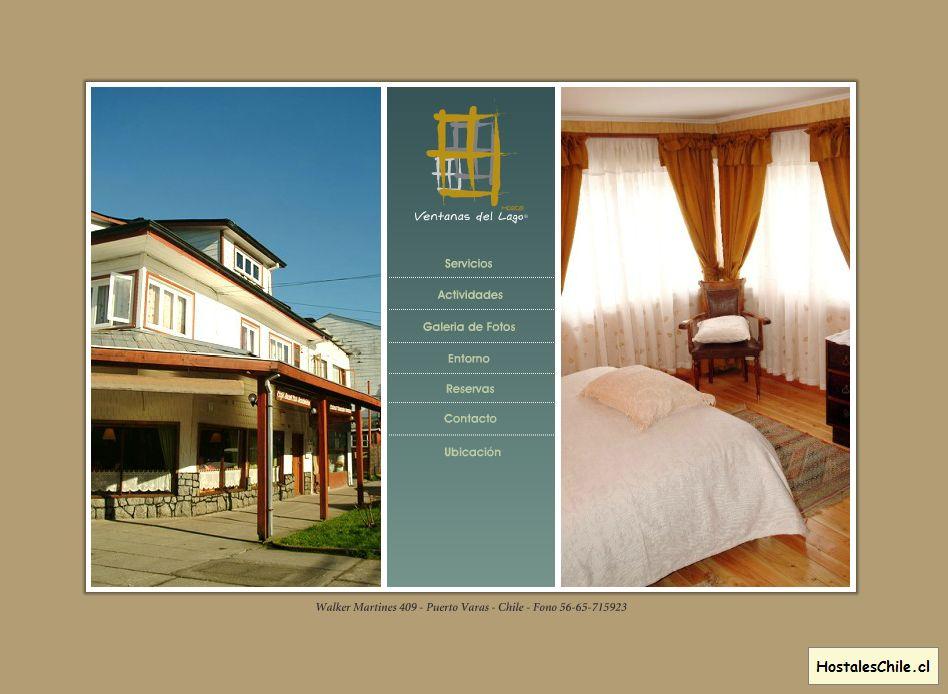 Hostales y Residenciales Chile - 'Ventanas del Lago - Bienvenidos' - www_ventanasdellago_cl_spanish_inicio_html