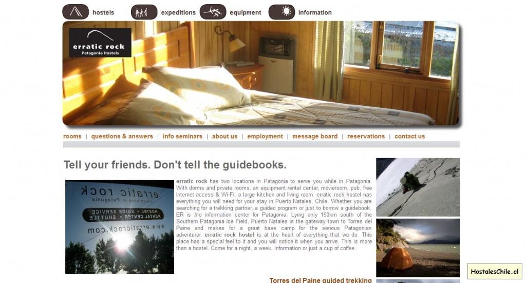 Hostales y Residenciales Chile - 'erratic rock' - www_erraticrock_com_hostel