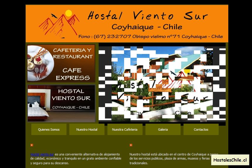 Hostales y Residenciales Chile - 'hostal viento sur coyhaique chile' - www_hostalvientosur_cl
